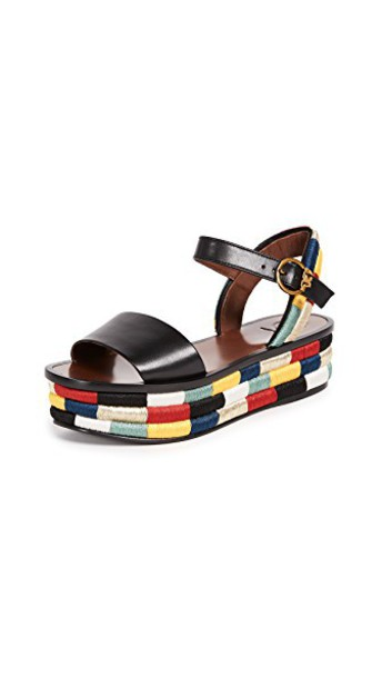 Tory Burch sandals platform sandals black shoes