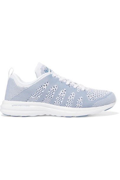 APL Athletic Propulsion Labs mesh sneakers blue sky blue shoes