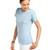 Bayan Bisiklet Yaka Mavi Basic Tişört
