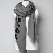 scarf,grey,leisure