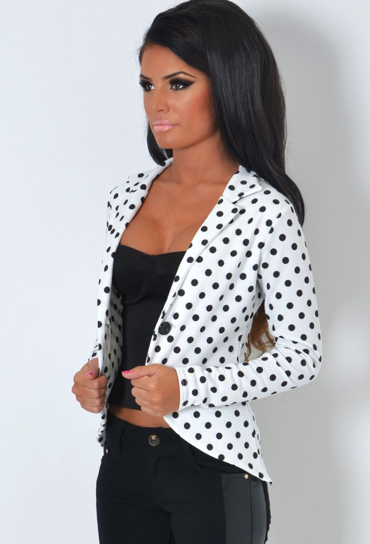 de2cac1b5e064 Spotty Dotty Black and White Polka Dot Jacket