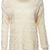 ROMWE | Asymmetric Hollowed Cream Jumper, The Latest Street Fashion