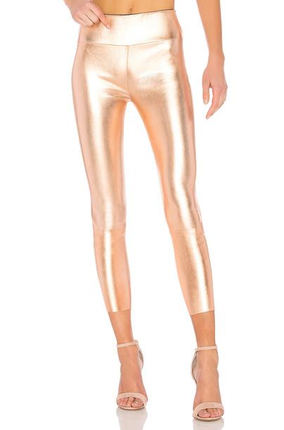 SPRWMN high metallic copper pants