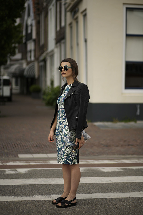 fashion zen dress jacket sunglasses bag jewels shoes