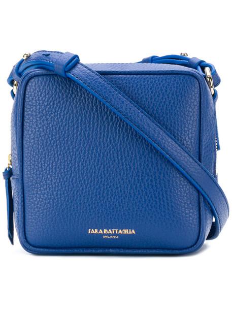 women bag shoulder bag leather blue