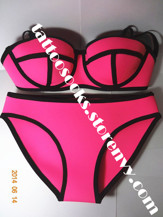 shop girl store neon bikini swimwear swimwears forsale sale pale modern fresh women trend storenvy tattoosocks tattoosocks.storenvy.com online shop online store buy neon pink bahtingsuits trusted seller trustedseller beach ocean trending