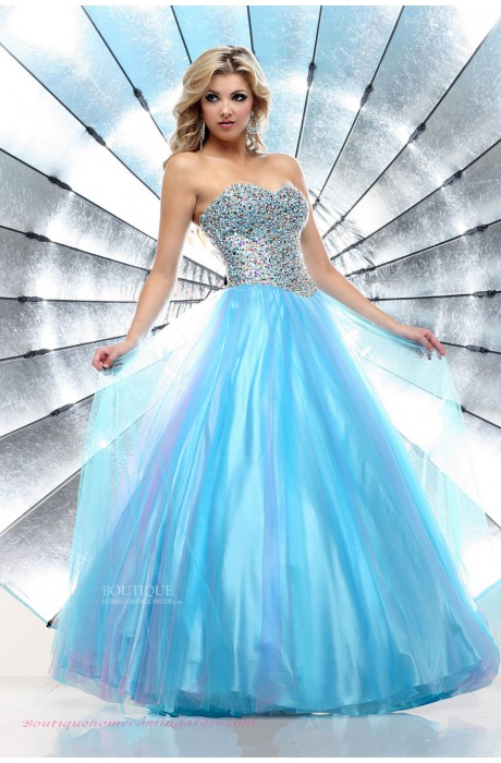 Line blue 2015 quinceanera dress