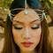 Stone cold princess head chain – gold soul