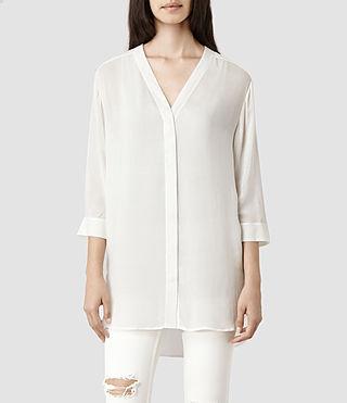 Womens Iris Shirt (Chalk) | ALLSAINTS.com