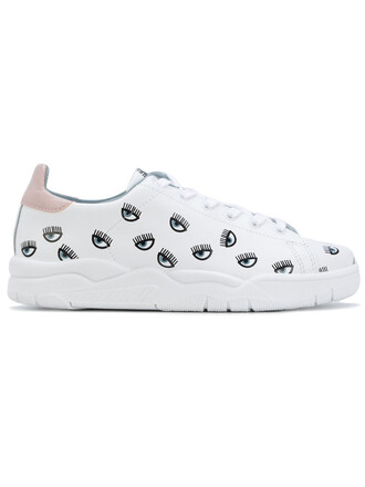 eyes women sneakers leather white cotton shoes