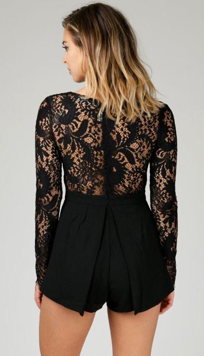 Sexy dressy long sleeve romper