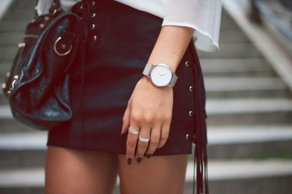 leather mini skirt leather skirt