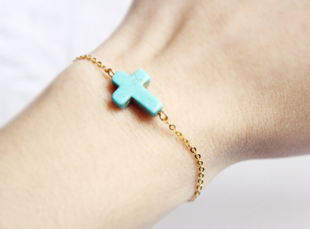 jewels sideways cross gold bracelets turquoise cross jewelry cross