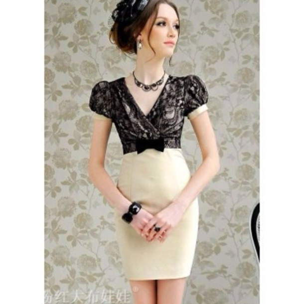 dress lace dress lace cream black cream dress black dress jewels