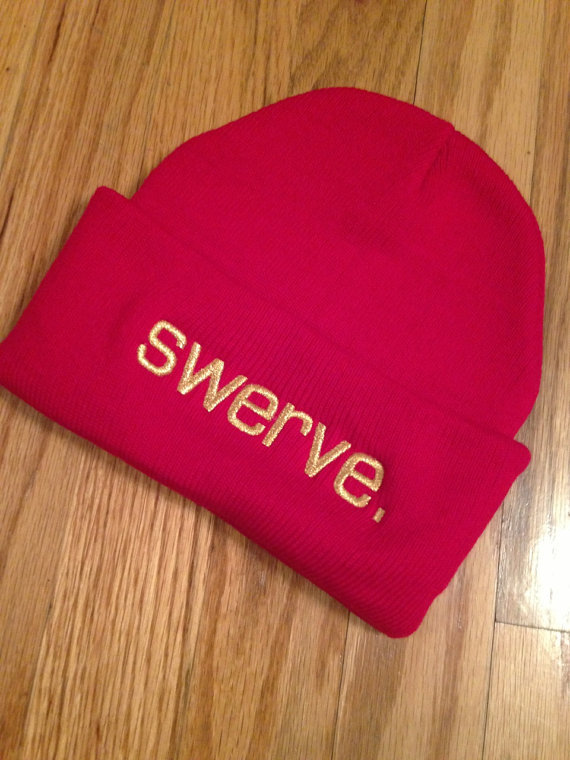 Red swerve. Knit Beanie on Wanelo
