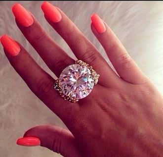 jewels ring diamonds nail polish girly sexy