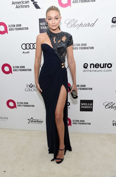 dress gown gigi hadid black red carpet dress prom dress