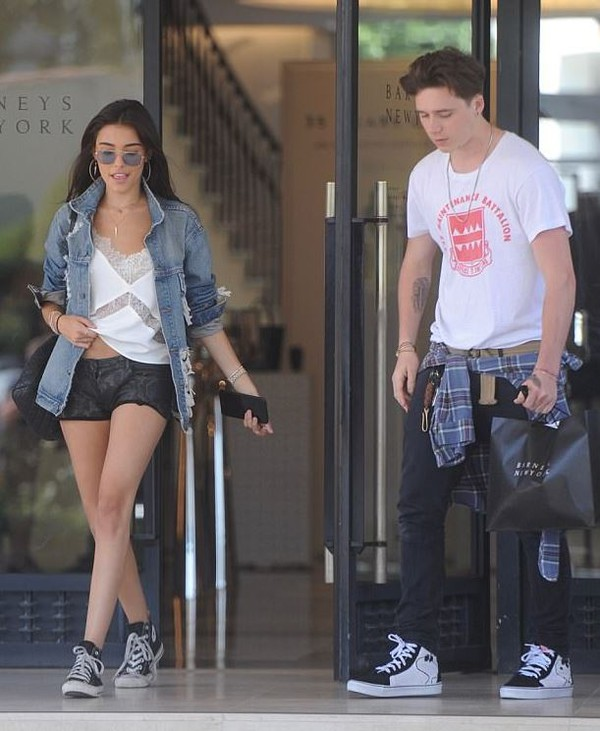 shorts brooklyn beckham madison beer top menswear mens t-shirt sneakers denim jacket