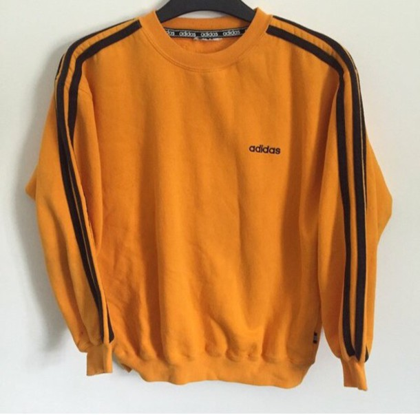 Sweater: adidas, orange, black, nike, adidas sweather, crop tops ...