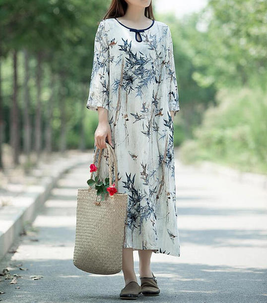 dress printed long dress