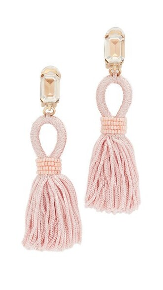 short tassel soft earrings silk jewels