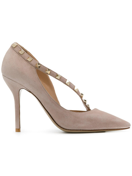 Valentino d'orsay pumps women pumps leather nude suede shoes