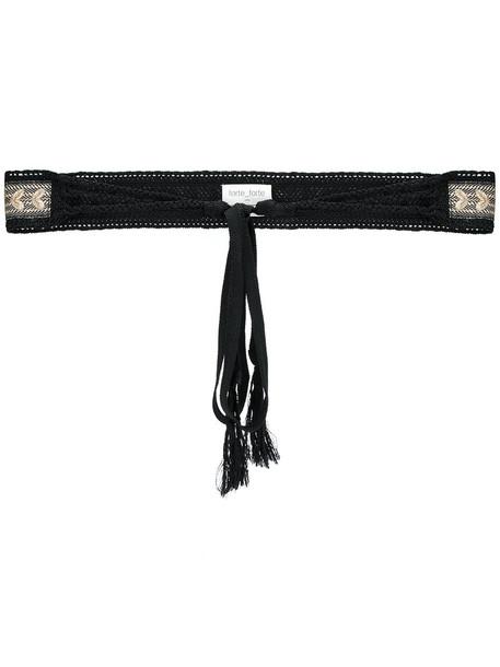 Forte Forte embroidered women belt cotton black
