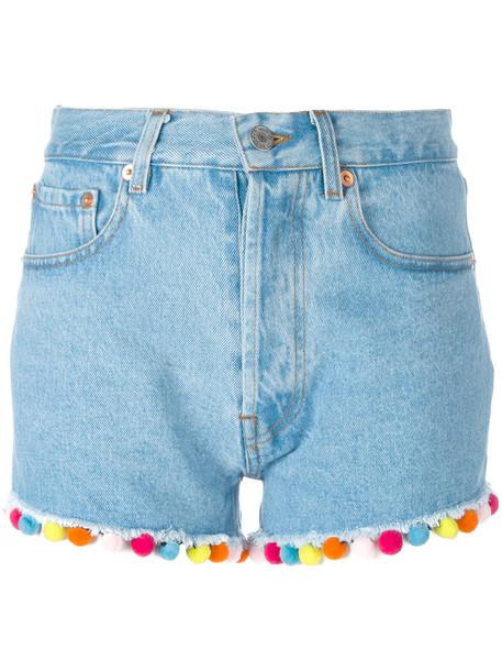 FORTE COUTURE shorts denim shorts denim women cotton blue