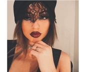 hat,kylie jenner,lace,beanie,jewels