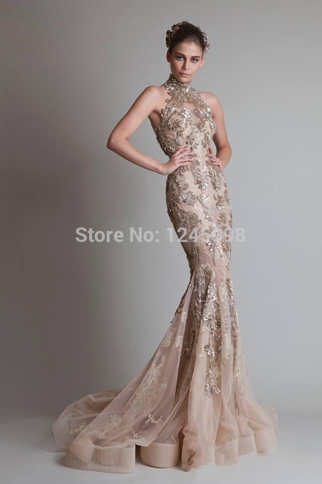 Silver Evening Dresses Elie Saab