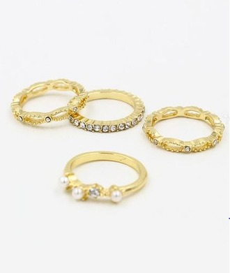 jewels girl girly girly wishlist ring gold gold ring knuckle ring ring set rings and tings