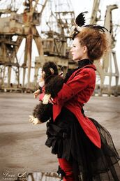 jacket,red,circus,ringmaster,clothes,costume,coat,magician,night circus,night,vintage,steampunk