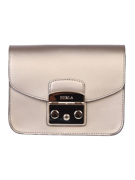Furla mini bag shoulder bag leather metallic