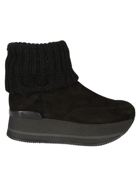 Hogan ankle boots black shoes