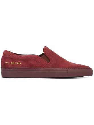sneakers suede red shoes