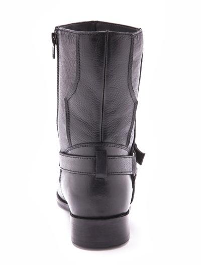 Boots motardes en cuir