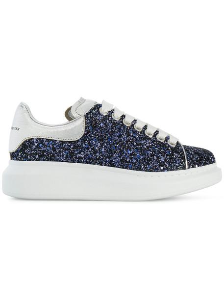Alexander Mcqueen women sneakers leather blue shoes