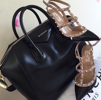 shoes valentino black designer givenchy bag fashion