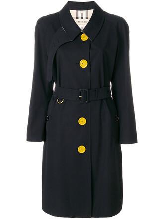 coat trench coat women cotton black