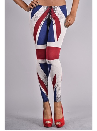 pants union jack leggings red lime sunday