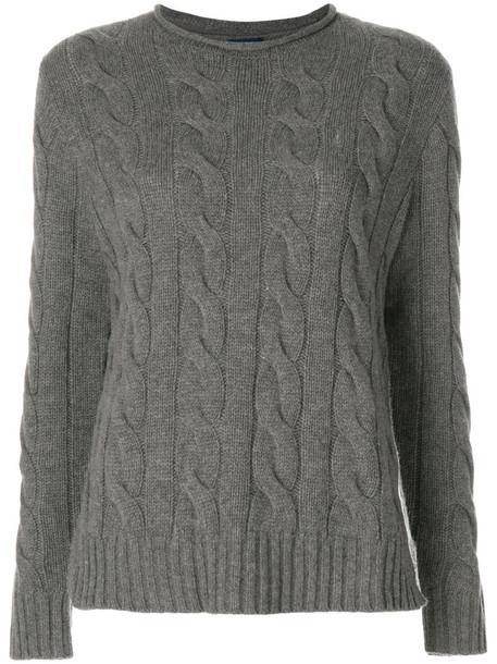 Polo Ralph Lauren jumper women knit grey sweater