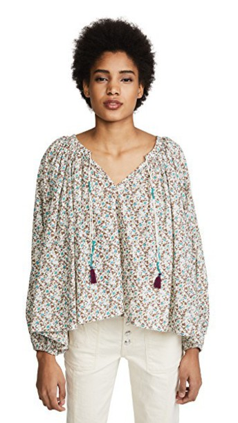 MES DEMOISELLES blouse floral top