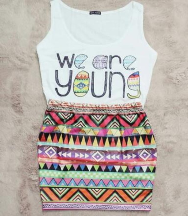 tank top we are young white top