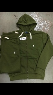 jacket,ralph lauren polo,green jacket,jumpsuit,polo jumpsuits,ralph lauren,mens polo,olive green,polo shirt,sweater,polo ralph lauren homme,polo sweat pants,joggers,green,polo sweater,sweatpants,army green sweatpants,sweatshirt,pants,white,girl,outfit