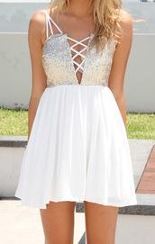 dress,sequin dress,white dress,summer dress,goodnight macaroon,model,celebrity style,prom dress,party dress