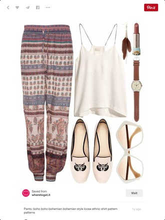 pants bohemian hippie gypsy
