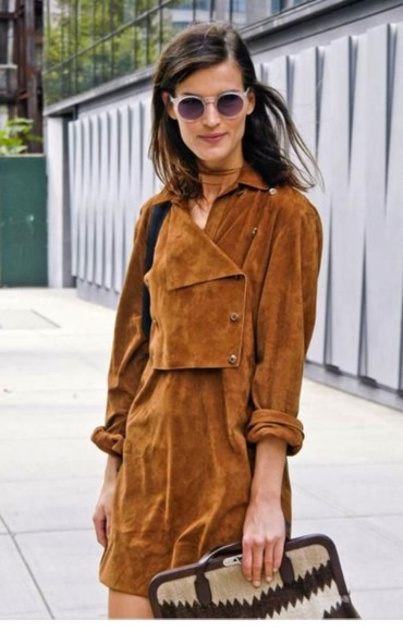 folk boho streetstyle suede suede dress vintage