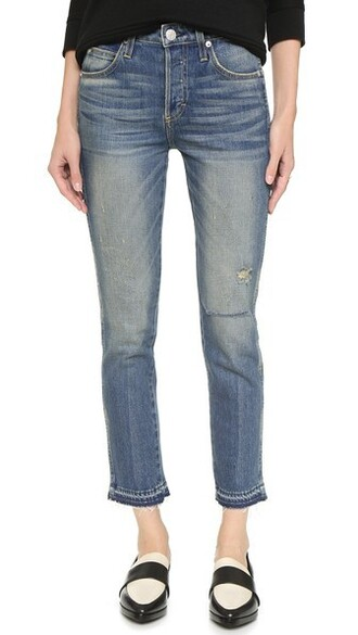 jeans cropped high babe