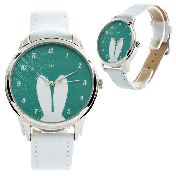 jewels white rabbit ears bunny bunny ears watch watch turquoise bunny ziz watch ziziztime