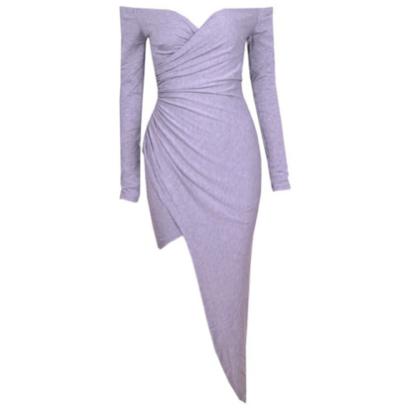 Stylish Crossover V-neck Dress
